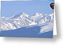 Over The Rockies Greeting Card