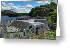 Over The Rooftops At Portree Greeting Card