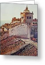 Over The Rooftops, Caceres Greeting Card