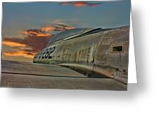 Over The Shoulder F-84g Greeting Card