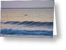 Over The Waves Greeting Card