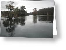 Overcast On The Rainbow River Greeting Card