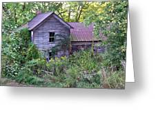 Overgrown Abandoned 1800 Farm House Greeting Card