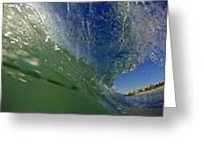 Overhead Wave Greeting Card
