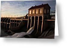 Overholser Dam Greeting Card