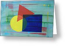 Overlapping Shapes Greeting Card