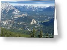 Overlook Banff Vista Greeting Card