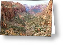 Overlook Canyon Greeting Card