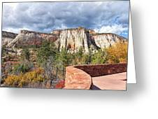 Overlook In Zion National Park Upper Plateau Greeting Card