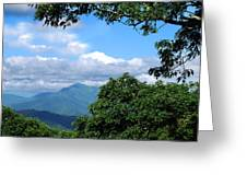 Overlook On The Pisgah Trail Greeting Card