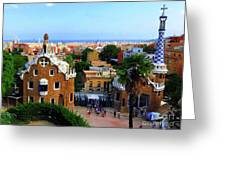 Overlooking Barcelona From Park Guell Greeting Card