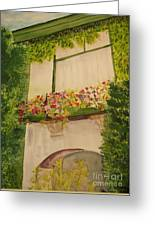Overlooking Butchard Gardens  Greeting Card