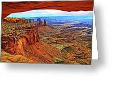 Overlooking Canyonlands National Park    Moab Utah Greeting Card