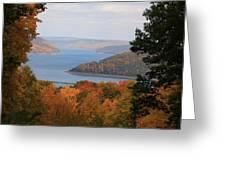 Overlooking Kinzua Lake Greeting Card by Rick Morgan