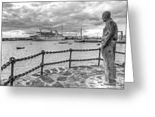 Overlooking Playa Blanca Harbour Greeting Card