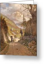 Overlooking Ramsau Bei Berchtesgaden Greeting Card