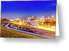 Overlooking Riverfront Greeting Card