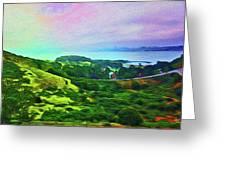 Overlooking San Francisco Bay Greeting Card