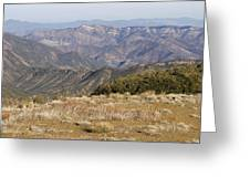 Overlooking Santa Paula Canyon Greeting Card