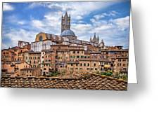 Overlooking Siena And The Duomo Greeting Card