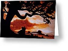 Overlooking Tara At Sunset Greeting Card