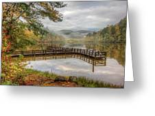 Overlooking The Beauty Of The Lake Greeting Card