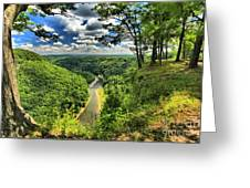 Overlooking The Genesee Greeting Card
