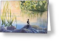 Overlooking The Lake Greeting Card
