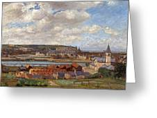 Overlooking The Town Of Dieppe Greeting Card