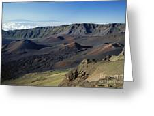 Overview Of Haleakala Cra Greeting Card