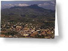 Overview Of Town Of Trinidad Greeting Card