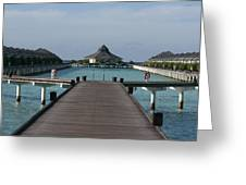 Overwater Bungalows Greeting Card