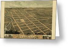 Owatonna, Minnesota 1870 Greeting Card