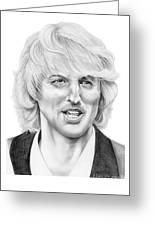 Owen Wilson Greeting Card