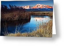 Owens River Sunrise Greeting Card