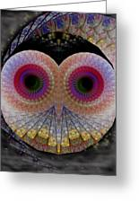 Owl Abstract Greeting Card