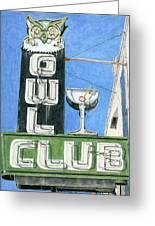 Owl Club Greeting Card