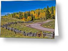 Owl Creek Pass Road Greeting Card