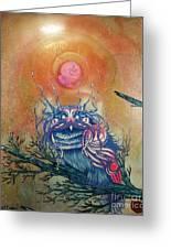 God King Owl Greeting Card