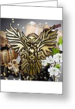 Owl In Flight Collection Greeting Card