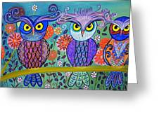 Owl In The Family Greeting Card