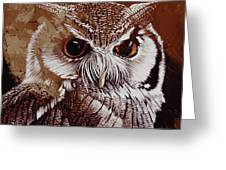 Owl Painting  Greeting Card