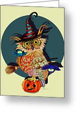Owl Scary Greeting Card