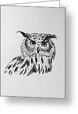 Owl Study 2 Greeting Card