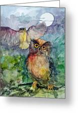 Owls In The Night... Greeting Card