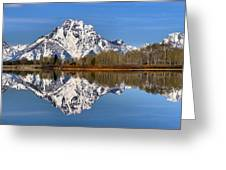 Oxbow Snake River Reflections Greeting Card
