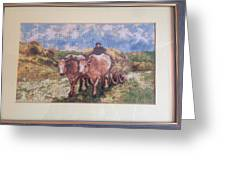 Oxcart After Nicolae Grigorescu Greeting Card