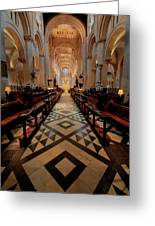 Oxford Cathedral Nave Greeting Card