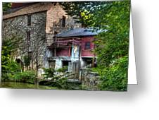 Oxford Mill-summertime Greeting Card
