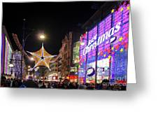 Oxford Street London At Christmas Greeting Card